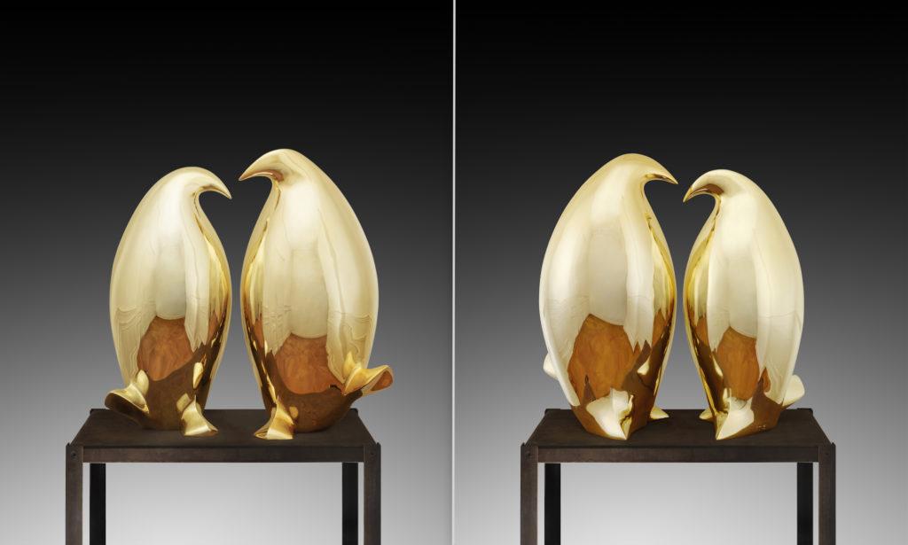 Pingouins dorés XL I XL golden Penguins